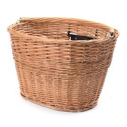 Prednja košara za bicikl oval pletena