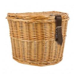 Košara za bicikl oval pletena - na prtljažnik