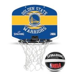 Spalding Mini zidni koš Golden State Warriors + loptica