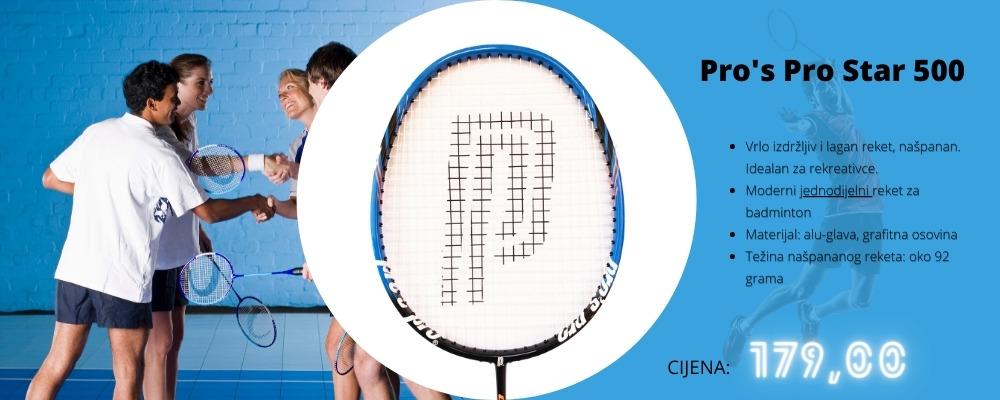 Reketi za badminton Pro