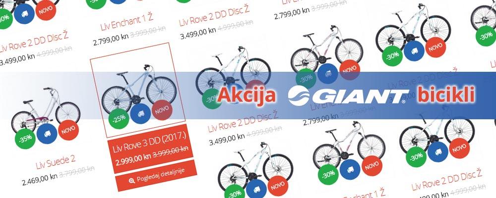 Akcija Giant bicikli!