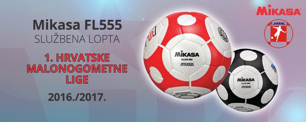 Mikasa FL555 - službena lopta 1. Hrvatske malonogometne lige za sezonu 2016./2017.
